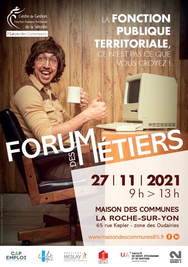 Affiche Forum des métiers 2021