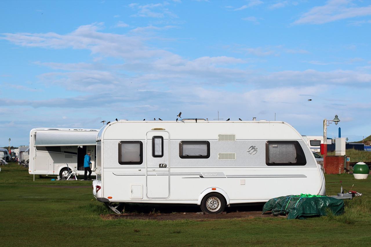 Caravane sur terrain
