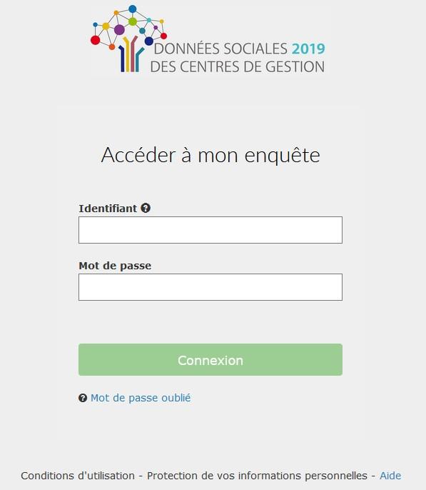 Capture d'écran portail données sociales